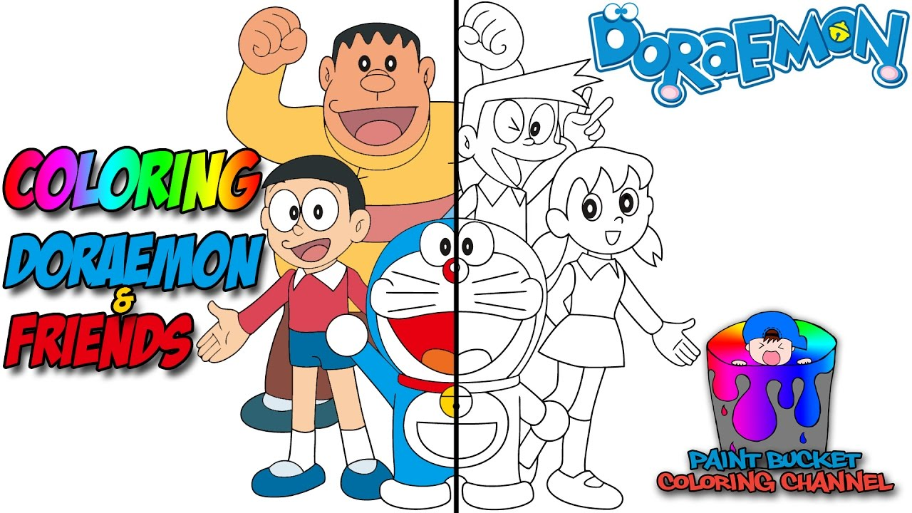 how to color doraemon coloring pages doraemon coloring book for kids to learn colors youtube - Doraemon Colouring Book