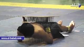 بالفيديو.. الرجل الخارق يظهر فى احتفالات «الدقهلية» بعيد المحافظة