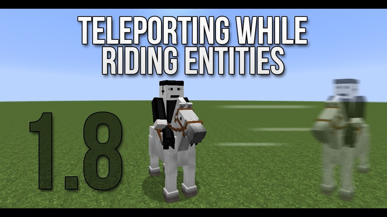 Teleporting While Riding A Horse And Other Entities YouTube - Minecraft teleport player to entity