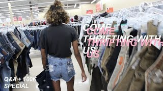 THANK YOU FOR 100K: Come Thrifting With Me + Q&A