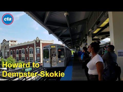 CTA: Yellow Line (Skokie Swift) from Howard to Dempster-Skokie