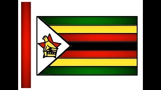 How to Drawing Zimbabwe Flag | Zimbabwean Flag Draw Coloring for Kids Easy | Little Channel | Flags