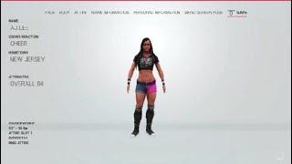 WWE 2K19 kendi AJ LEE sen.