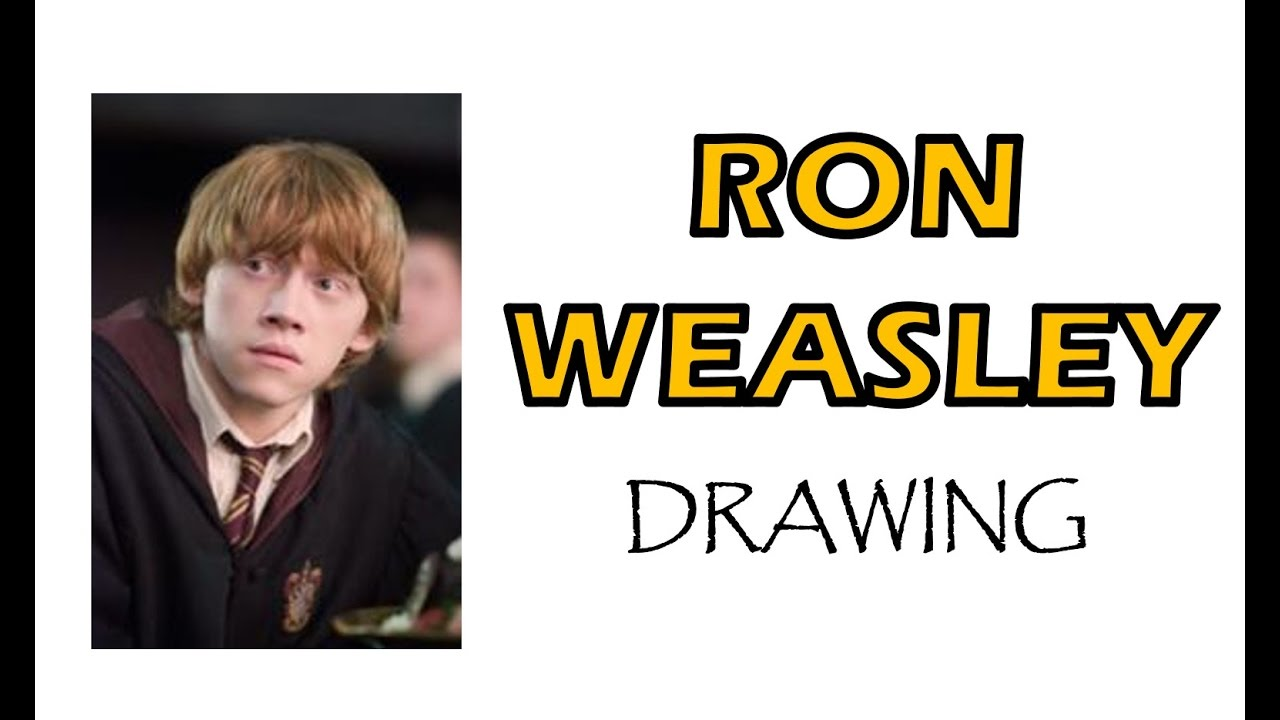 how to draw ron weasley