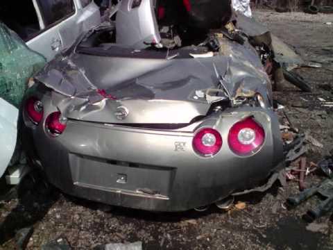 09 Nissan Gtr R35 Skyline Crash Totaled Death Of A Gtr Youtube