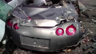 09 NISSAN GTR R35 SKYLINE CRASH TOTALED , DEATH OF A GTR