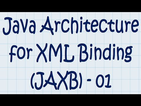 JAXB (01) - Java Architecture for XML Binding