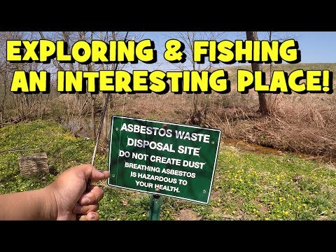 Fishing Next to an ASBESTOS WASTE DISPOSAL Facility...Lol... (Give-Away Included) (Ambler, PA)