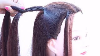 5 cute & easy open hairstyle for birthday | easy hairstyle | hair style girl | simple hairstyle