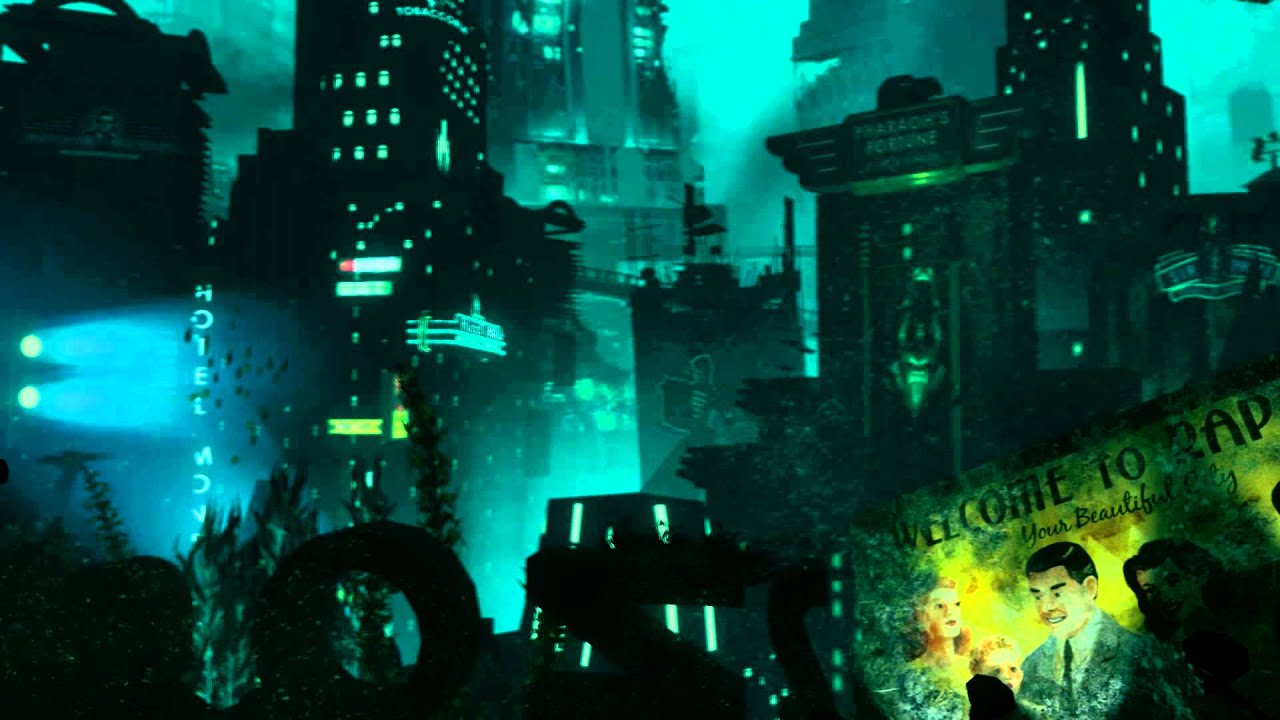 dreamscene [live wallpaper] - bioshock 2 - rapture (1080p) - youtube