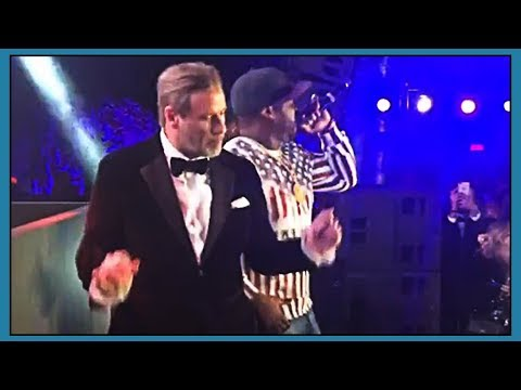 John Travolta Gets Lit With 50 Cent At Cannes