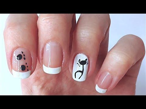 Рисунки На Ногтях Кошки Пошагово