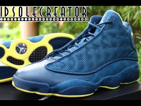 Nike Air Jordan Retro 13- SQUADRON BLUE Review - YouTube 916bc2de8
