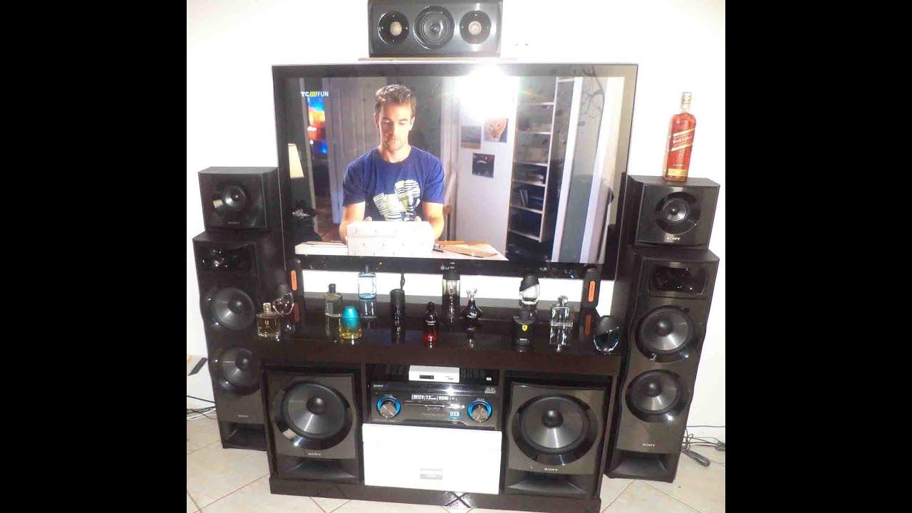 Home theater sony muteki 7 2 ht m7 2012w rms youtube for Mueble muteki 5 2