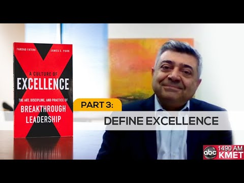 Interview with Dr. Fateri Part 3: Define Excellence