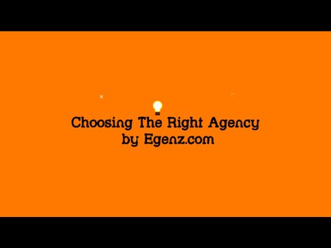 Choosing The Right Website Design Agency by Egenz com