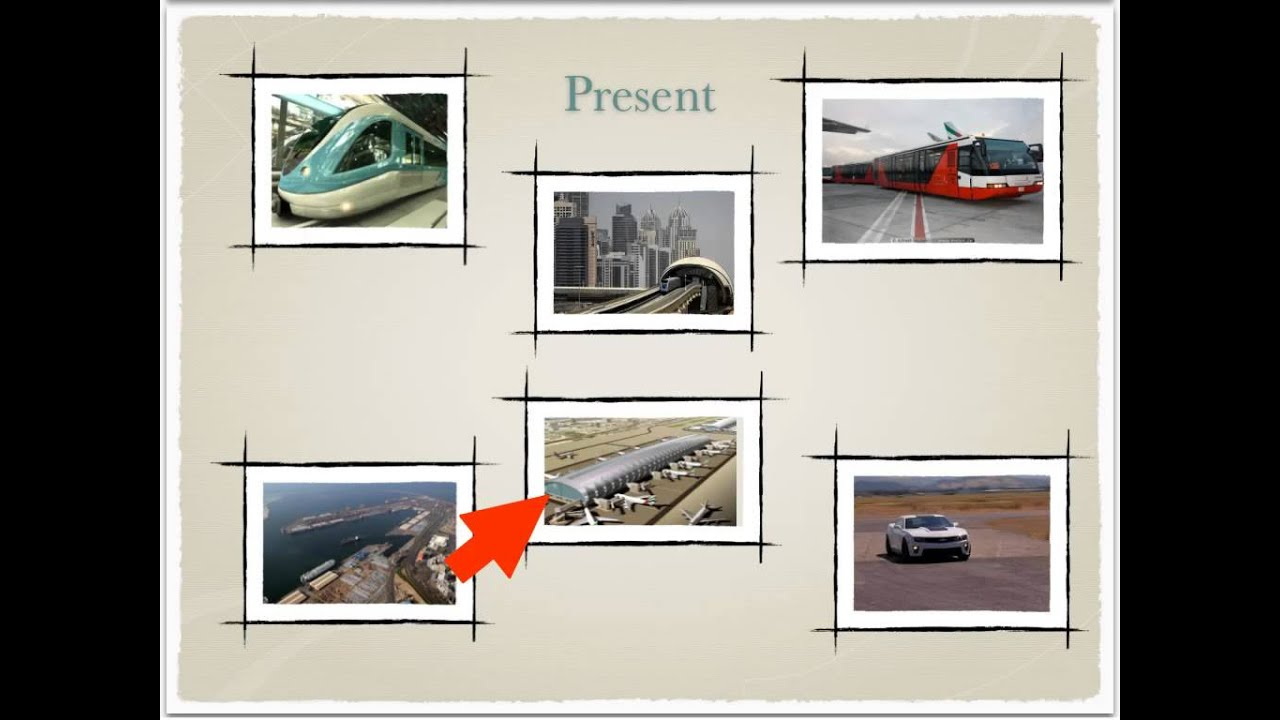 transportation in past and present The life style in the uae  in the life style between past and present the life  present they are using develop transportation such as.