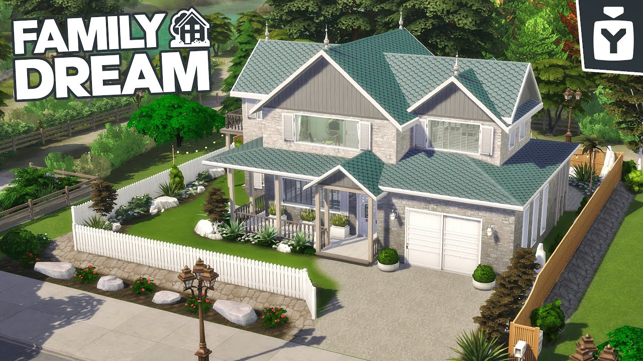 THE FAMILY DREAM (CC+NO CC) The Sims 4 | Speed Build 🏡