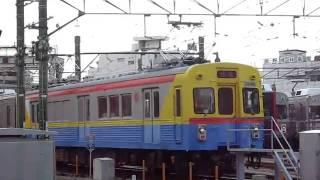 東急1023Fの雪が谷検車区内入れ替え1/3