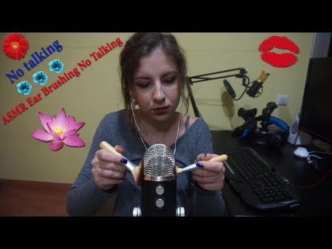 😻ASMR Blue Yeti Ear Brushing No Talking💋 АСМР Массаж для ваших ушек😍