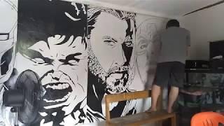 Mural Art - Gambar 4 Sekawan Marvel Avenger by EDYWORLD