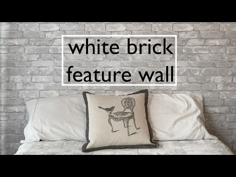 DIY White Brick Feature Wall: NuWallpaper