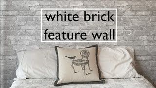 DIY White Brick Feature Wall: NuWallpaper