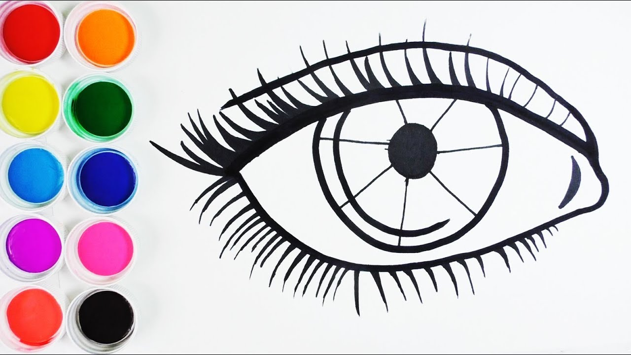 Dibujar Y Colorear Ojo De Arco Iris Dibujos Para Niños Learn