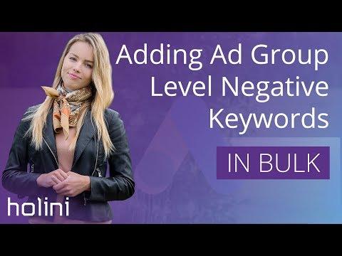Google Ads Adwords Adding Ad Group Level Negative Keywords In Bulk 2018