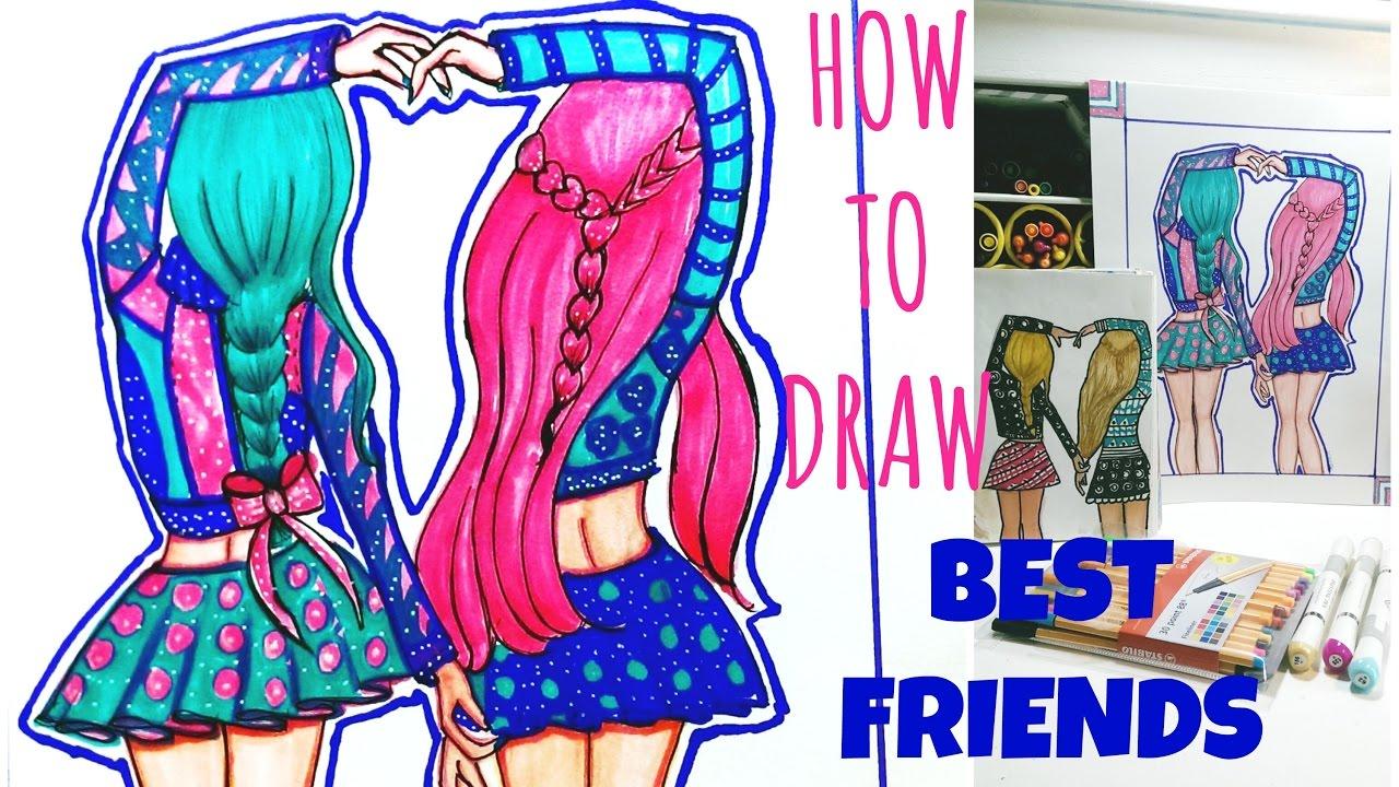 draw friends friend drawings