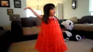 super cute 3 years old baby dancing