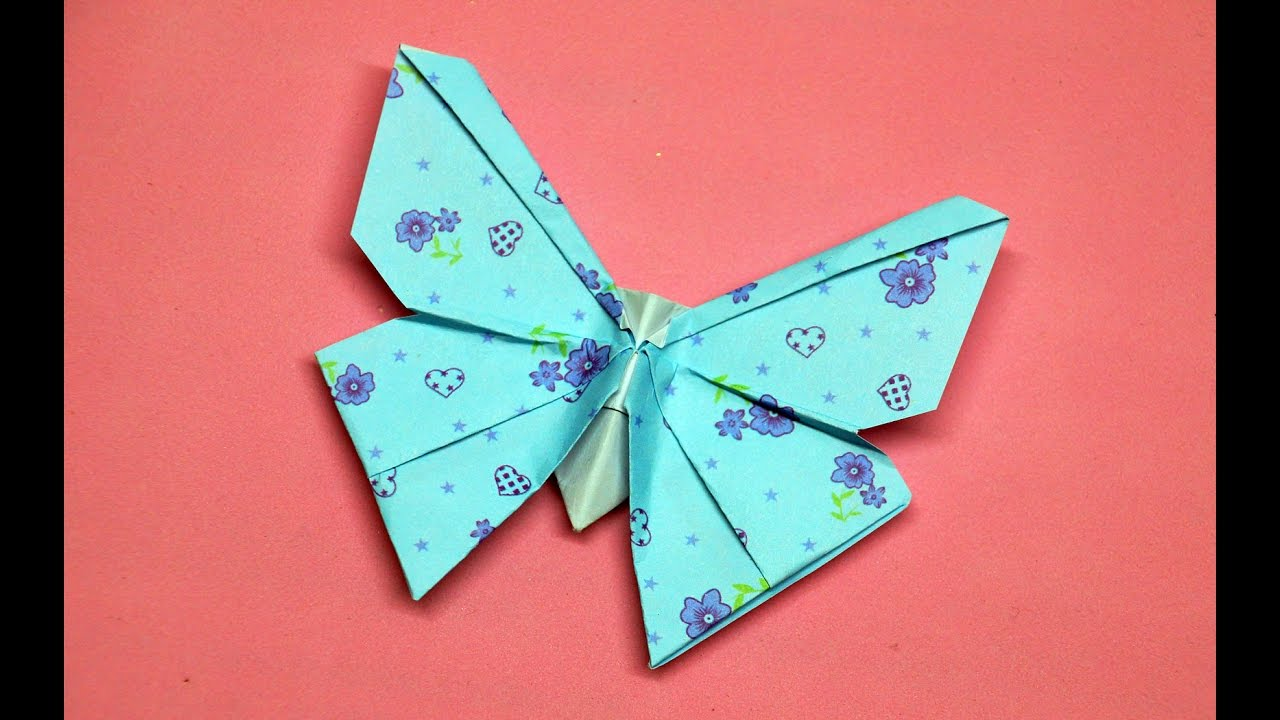 Origami butterfly // DIY beauty and easy - YouTube