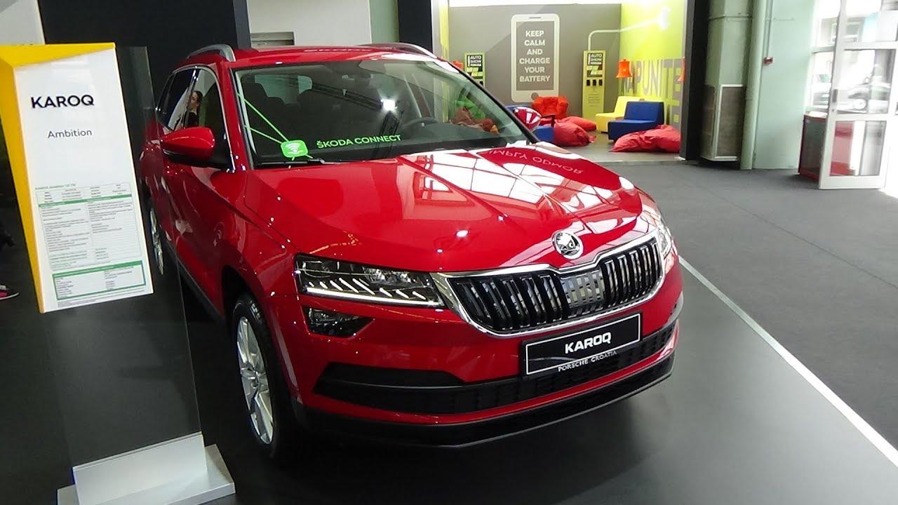 2018 skoda karoq ambition 1 0 tsi exterior and interior zagreb auto show 2018 youtube
