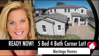 New Homes Winter Garden Florida Five Bedroom Ready Now... The Belfort by Meritage at Twinwaters