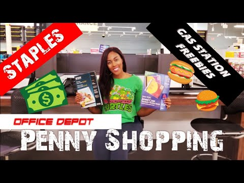 Penny Shopping & Free Food! Office Depot, Staples, RaceTrac