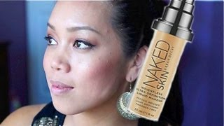 NEW Urban Decay Naked Skin Foundation First Impression Review - itsjudytime