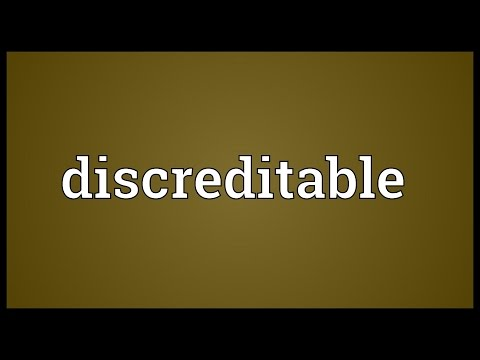 Discreditable Meaning