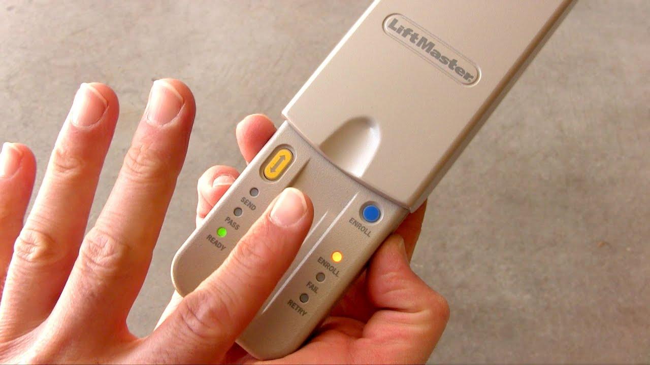 Fingerprint Garage Door Opener How To Install Chamberlain
