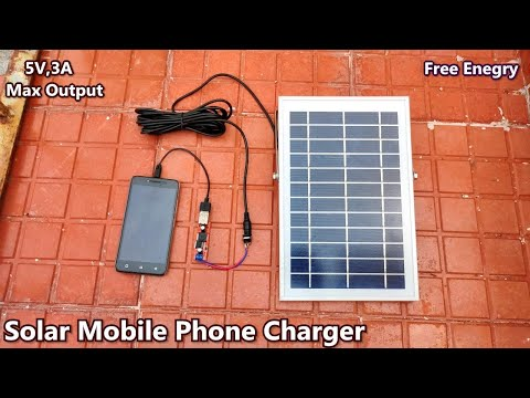 How To Make Solar Powered Mobile Charger | 5v 3A USB Output | Free Energy | POWER GEN