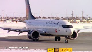 Air Canada Boeing 737 MAX 8 (C-GEHQ) Taxiing at Calgary Airport thumbnail