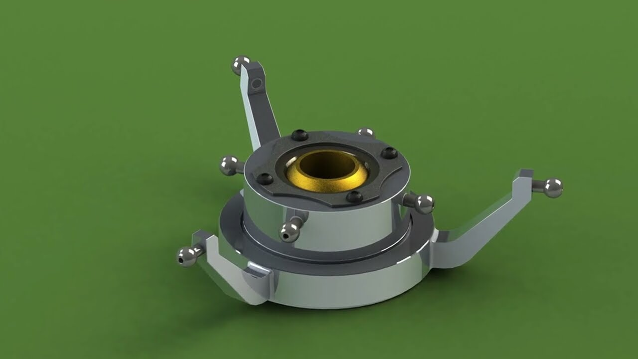 Heavy Duty Fan >> Solidworks tutorial: Swash Plate in Solidworks (Parts ...