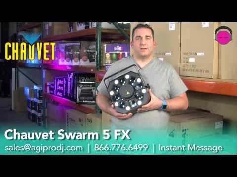 CHAUVET Swarm 5 FX 3-in-1 LED Moonflower, RG Laser & Strobe Light | agiprodj