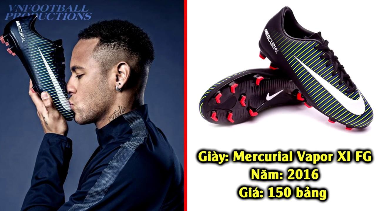 Lịch sử các mẫu giày đá bóng Nike của siêu sao Neymar Jr từ năm 2007 – 2017.