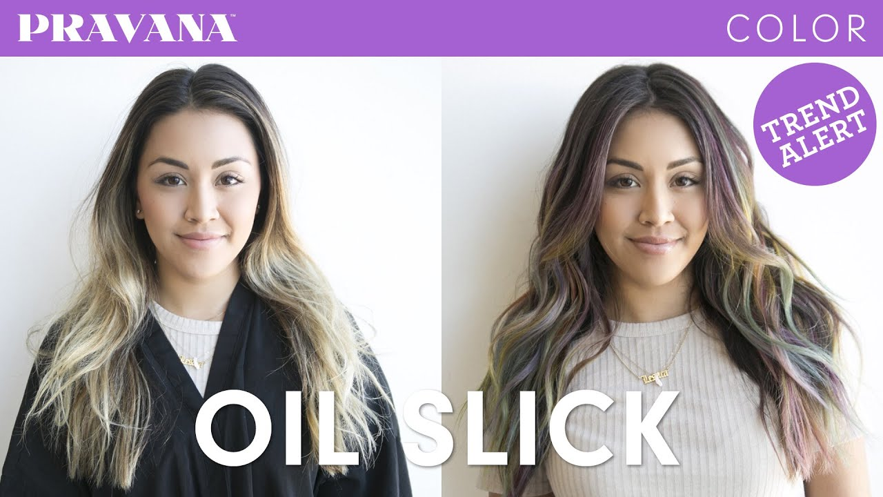 How To Oil Slick Hair Color Youtube