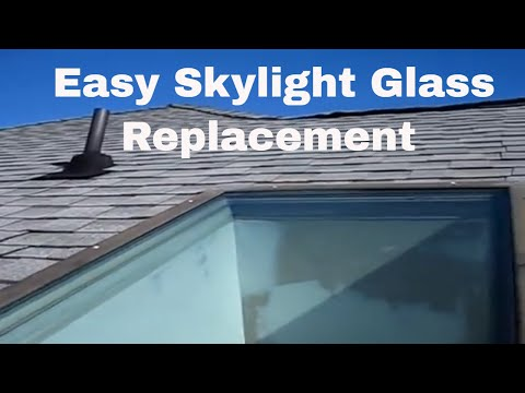 how to repair fix replace leaking Wasco skylight glass replacement installation reglaze a skylite