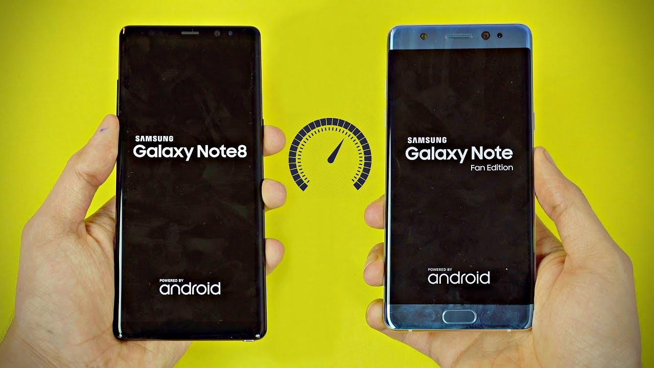 Samsung Galaxy Note 8 Vs Note Fe Note 7 Speed Test 4k Youtube