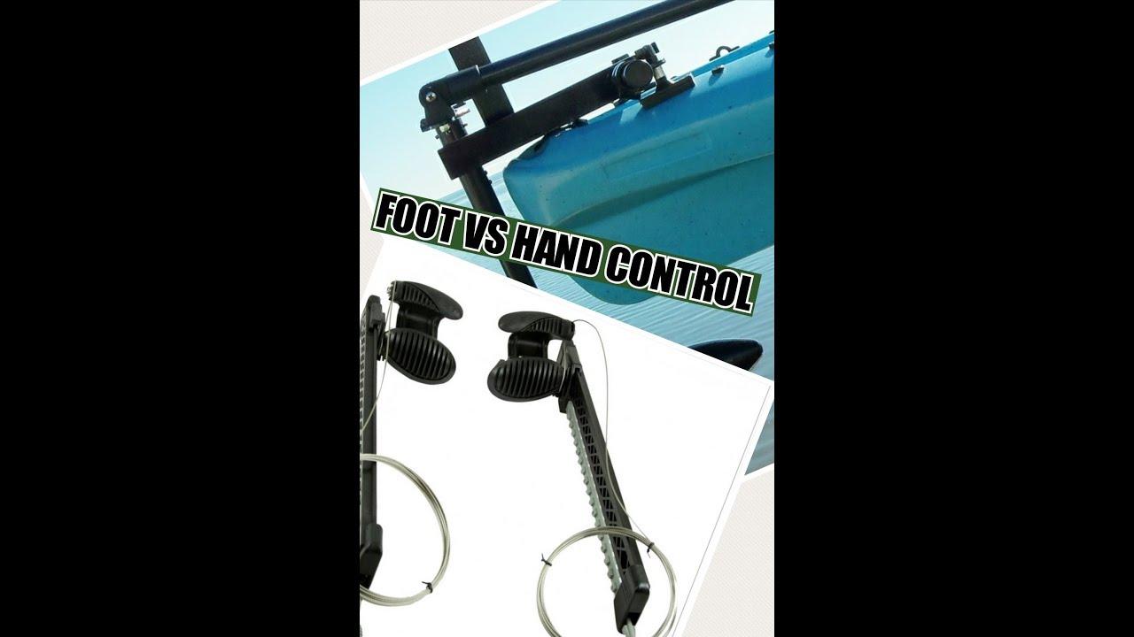 Kayak: Hand control vs Foot control