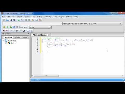 Tower of Hanoi - Program in C [CodeBlocks]