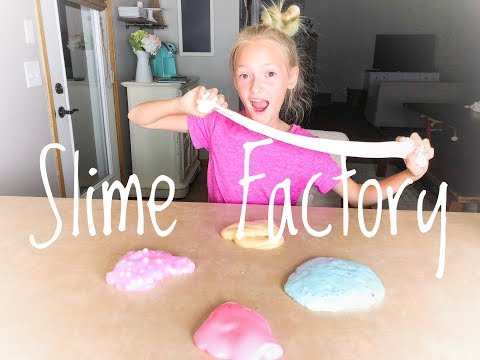 SLIME TIME with Lyla Grace! | Satisfying Slime FACTORY!