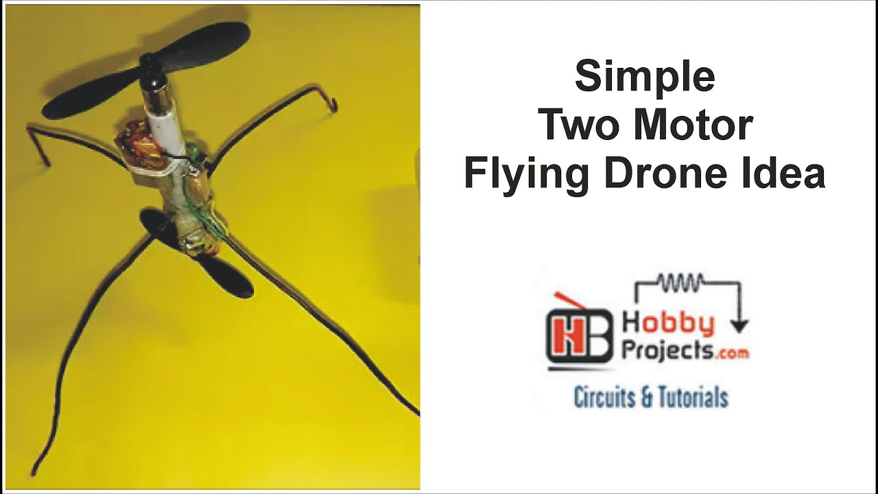 Simple Two Motor Flying Drone Idea